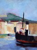 Edouard Léon Louis LEGRAND - Painting - Le port