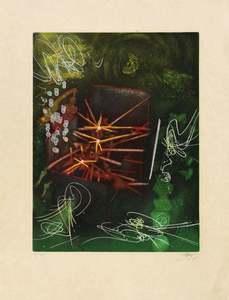 "Roberto MATTA - Estampe-Multiple - Untitled from ""Une Saison en Enfer"""