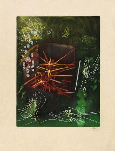 "Roberto MATTA - Grabado - Untitled from ""Une Saison en Enfer"""