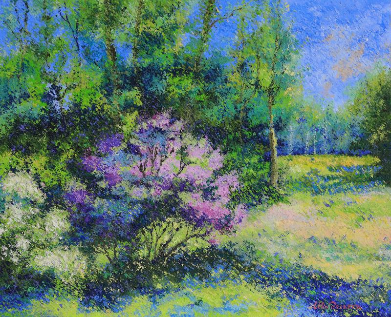 Lelia PISSARRO - Painting - Le Jardin de Lélia Pissarro