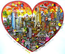 Charles FAZZINO - Print-Multiple - Invading the heart of NYC