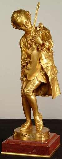 "Louis Ernest BARRIAS - Sculpture-Volume - ""Young Mozart"""