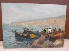 Francesco DIMARINO - Pintura - Pescatori a Napoli