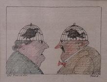 Paul FLORA - Drawing-Watercolor - Ein Eheidyll