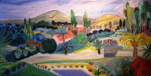 Amos YASKIL - Painting - The Landscape View
