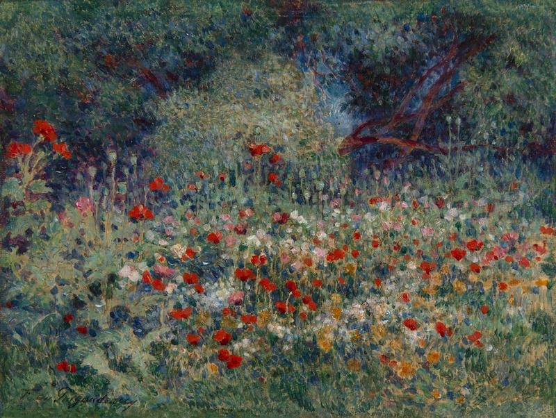 Ferdinand Loyen DU PUIGAUDEAU - Peinture - Les coquelicots