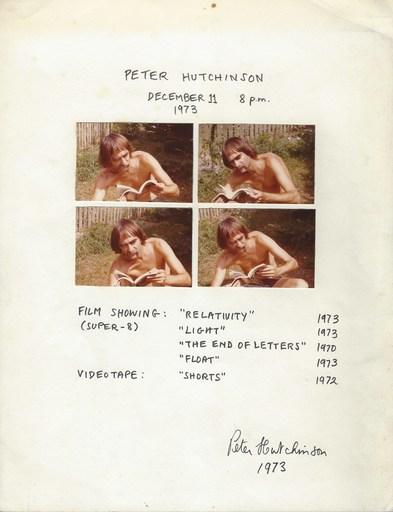 Peter Arthur HUTCHINSON - Dibujo Acuarela - December 11, 1973, 8 pm