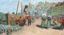 Léopold SMETANA - Pintura - Le port de Boulogne-sur-Mer