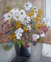 Anne DE LARMINAT - Painting - Les fleurs de Yann