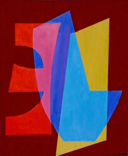 Augusto GARAU - Pittura - Forma blu