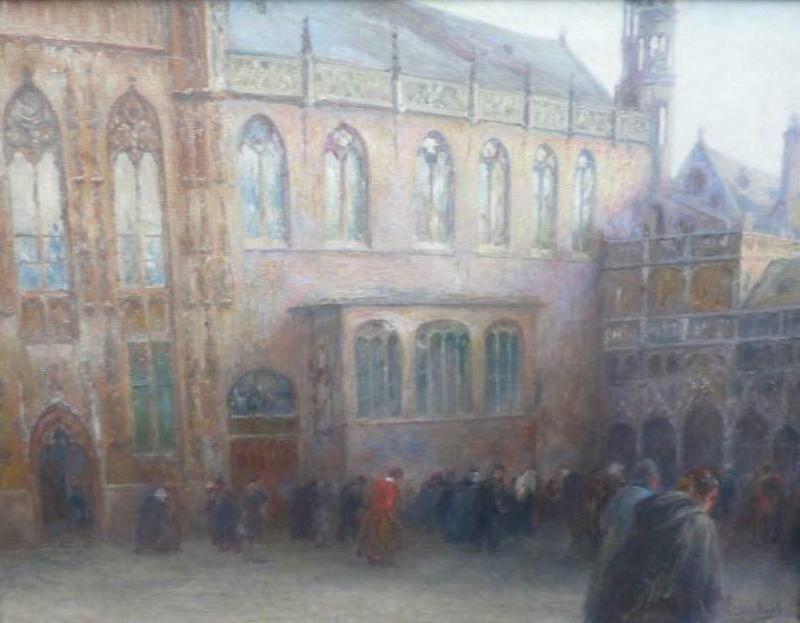 Jozef HORENBANT - Pintura - de brug in brugge met heilige bloadkapel
