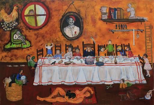 Jacotte SIBRE - Peinture - La cène