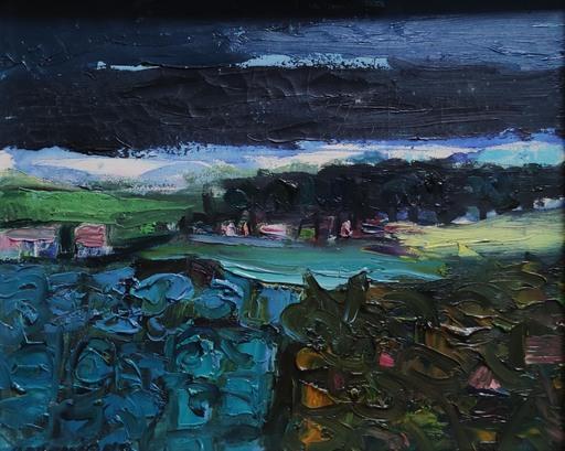 Natale ADDAMIANO - Painting - Campo di cardi