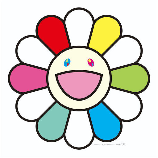 Takashi MURAKAMI - Grabado - Smile every day with Flowers