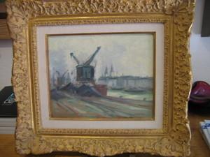 Robert Henri PINCHON - Peinture - Les quais de Seine à Rouen