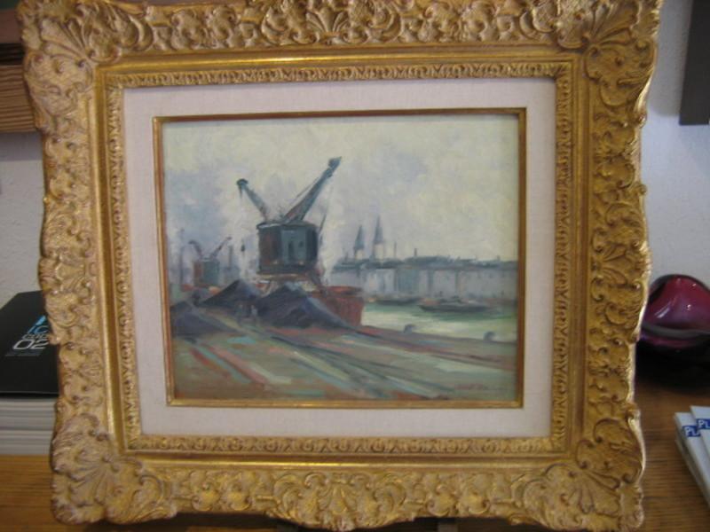Robert Henri PINCHON - Pittura - Les quais de Seine à Rouen