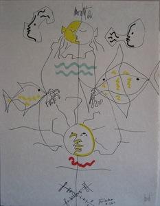 Jean COCTEAU - Grabado - LITHOGRAPHIE SIGNÉE AU CRAYON NUM/XX SIGNED NUMB LITHOGRAPH