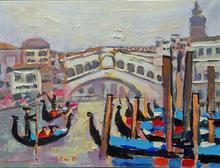 Jean-Pierre CHEVASSUS-AGNES - Painting - VENISE pont RIALTO