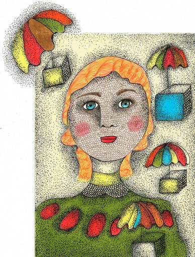 Claudine Marie Claire LOQUEN - Gemälde - Sophie Blanchard Aéronaute