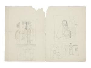 Shakir Hassan AL-SAID - Dibujo Acuarela - Family Life