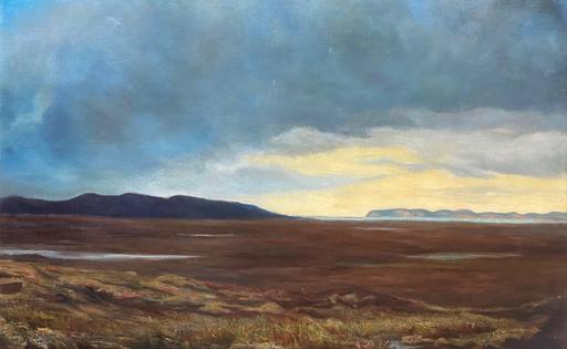 William Beatty BROWN - Gemälde - Scottish Bare Landscape