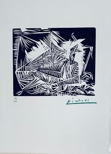 Pablo PICASSO - Stampa-Multiplo - Pigeonneau, from 40 Dessins de Picasso en Marge du Buffon