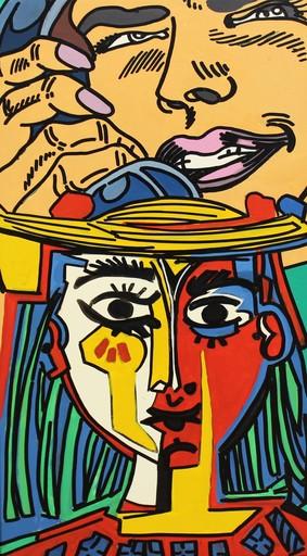 小野洋子、爱罗 - 绘画 - Phone Picasso
