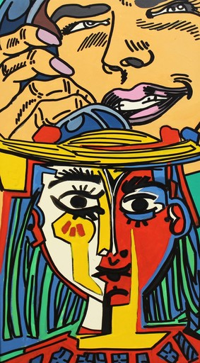 ERRÖ - Gemälde - Phone Picasso