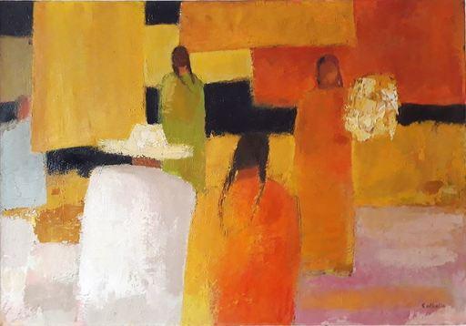 Bernard CATHELIN - Gemälde - Marché Ensoleillé