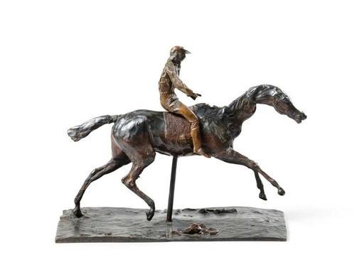 Edgar DEGAS - Escultura - Cheval au galop sur le pied droit, le pied gauche arrière se