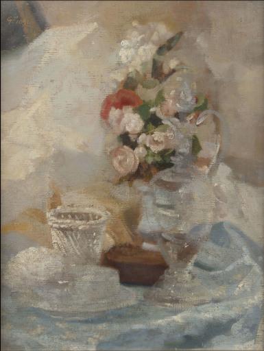 Giulio FIORI - Pintura - Natura morta con fiori