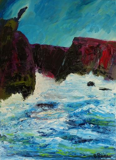 Bernard PINEAU - Painting - H086 Vertiges