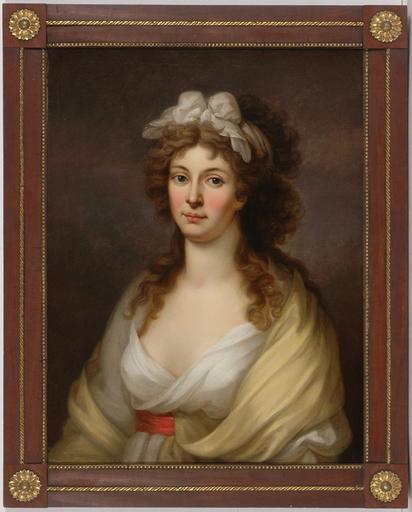 """Johann Heinrich I TISCHBEIN - Gemälde - J. H. Tischbein (1722-1789)-Circle """"Portrait of a lady"""""""