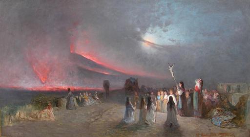 Francesco MANCINI - Pintura - eruzione del 27 aprile 1872