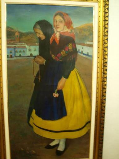 Manuel ALVAREZ DE LA PUEBLA - Pintura - Mujeres con traje regional