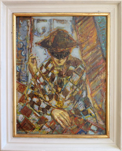 Gérard TERRIEN - Pintura - L'Arlequin