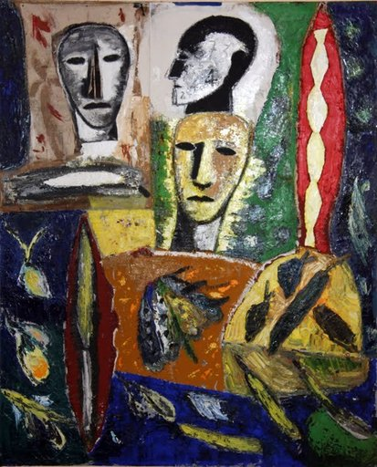 Mimmo PALADINO - Peinture - Il Golem