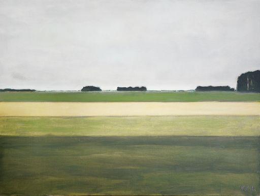 Vivi HERREBOUDT - Painting - Le Plat Pays qui est le mien    (Cat N° 6033)