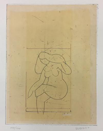 马诺罗·瓦尔代斯 - 版画 - Desnudo XIII