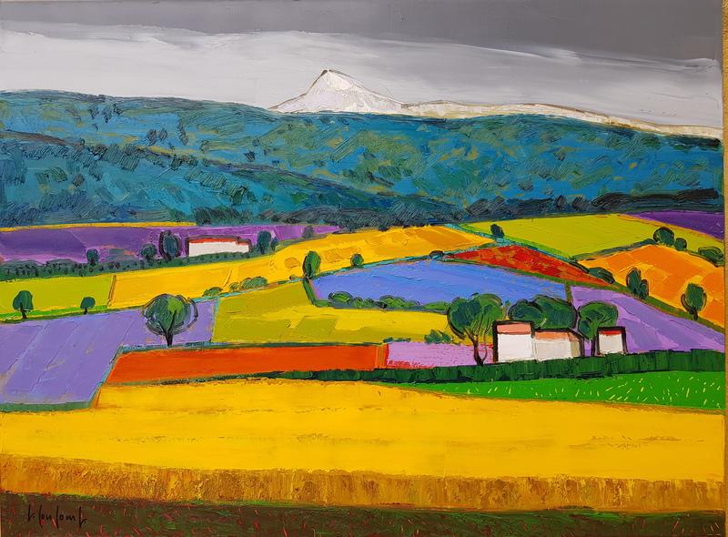 Georges COULOMB - Peinture - Le Mont Ventoux