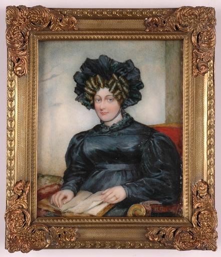 """Henry COLLEN - Miniature - """"English Lady"""", Portrait Miniature"""