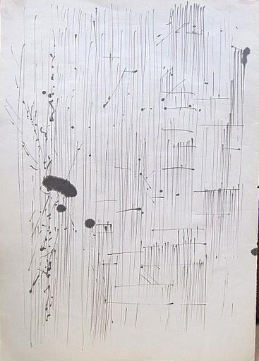 Karl KLUTH - Dibujo Acuarela - Abstrakt - Striche
