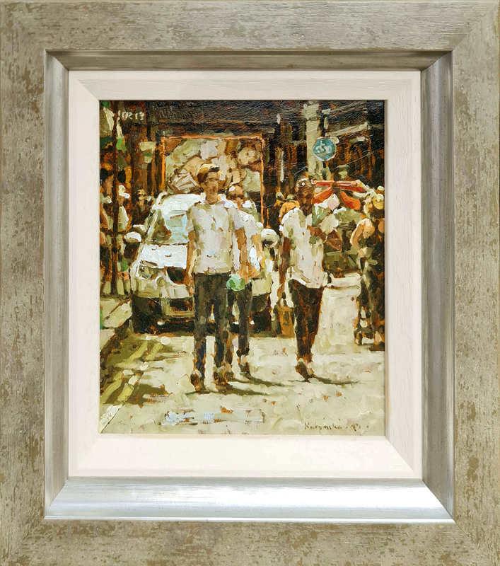 Tony KARPINSKI - Painting - The Boys (Miniature)