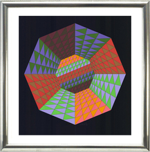 Victor VASARELY - Estampe-Multiple - Komposition (Oktagon)