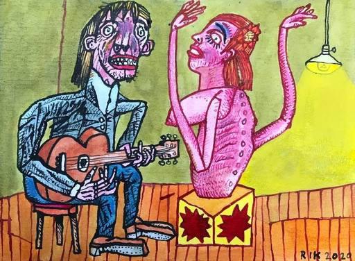 Rik VAN IERSEL - Dessin-Aquarelle - Corona journal ; Samba Pati let me be your Flamenco