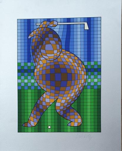 Victor VASARELY - Print-Multiple - Golfer