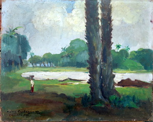 Pierre CASTAGNEZ - Painting - Paysage environs de CONAKRY