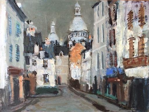 Eugène BABOULENE - Pittura - Paris, Montmartre, le sacré coeur