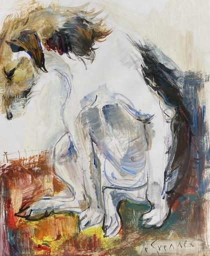Jean LE GUENNEC - Drawing-Watercolor - Le chien