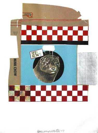 Robert RAUSCHENBERG - Stampa-Multiplo - Mink Chow (Chow Bag)